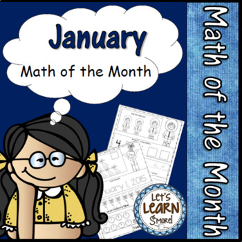 January Themed, Math Worksheets, Winter Themed Daily Math