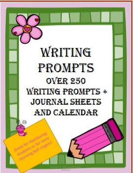 Writing Prompts (Over 250 + 2016 Calendar & Journal Pages)
