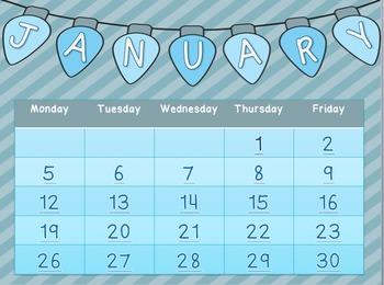 January 2015 Meme Calendar