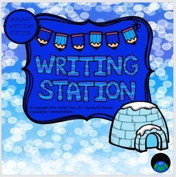 January Mini Writing Station