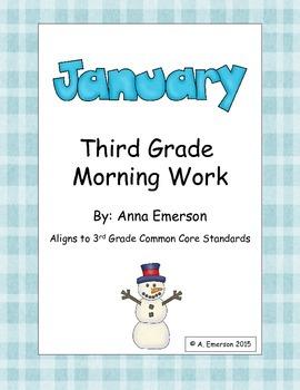 January Morning Work Third Grade