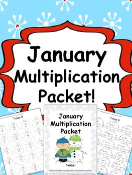 January Multiplication Packet {Just Print & Go!}