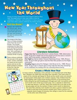 January New Year Around the World Grades 1-3