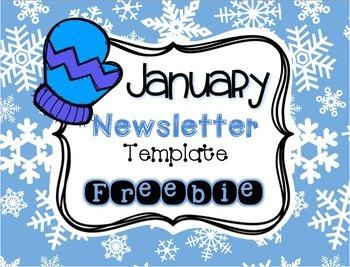 January Newsletter Template FREEBIE