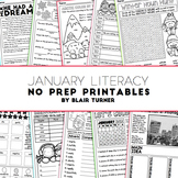 January NO PREP Literacy Printables