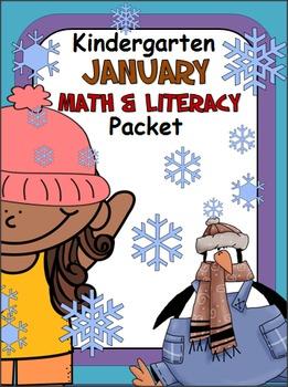 January Math And Literacy Packet - Kindergarten
