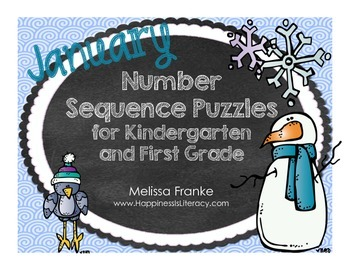 January Number Puzzles for Kindergarten & First Grade