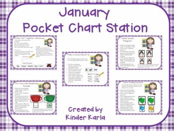 January Pocket Chart Station