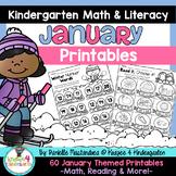 January Print & Go Winter Printables: Kindergarten {Math &