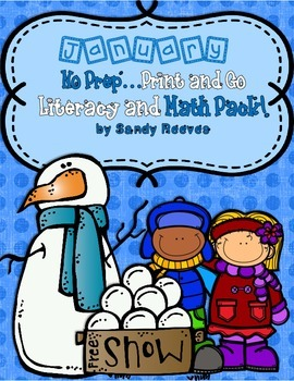 January Print and Go Math and Literacy Printables! {109 St