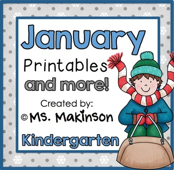January Printables - Kindergarten Literacy and Math