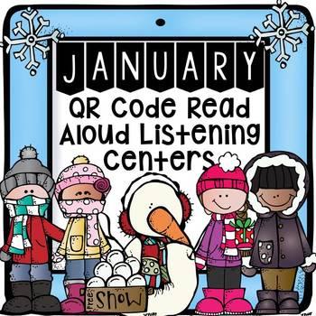 January QR Code Read Aloud Listening Centers