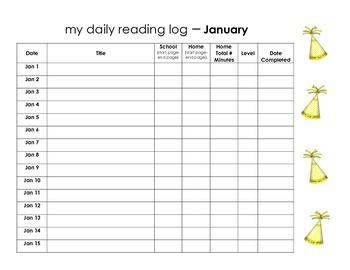 January Reading Log