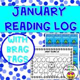 January Reading Log & Brag Tags