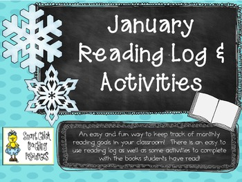January Reading Log Packet for Intermediate Students