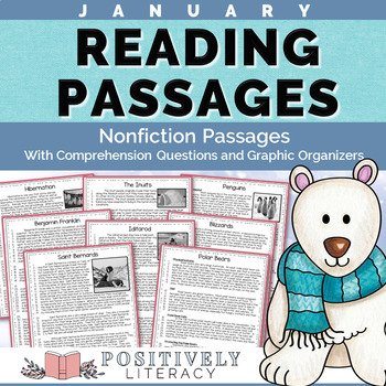 January Reading Passages - Nonfiction Text with Comprehens