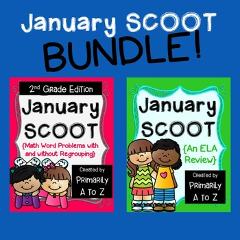 January Review BUNDLE {2nd Grade Math & ELA}