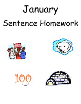 January Sentence Homework