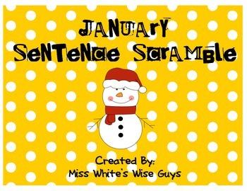 January Sentence Scramble