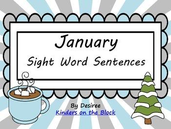 January Sight Word Sentences