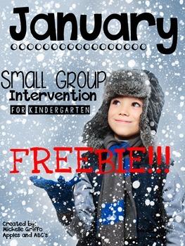 January Small Group Intervention FREEBIE