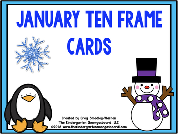 January Ten Frame Cards!  A Common Core Math Creation!