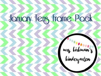 January Tens Frames