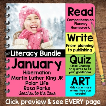 {Jan. Literacy} 4 Themed Units- Reading, Fluency, Writing,
