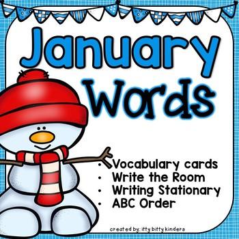 January Vocabulary Words