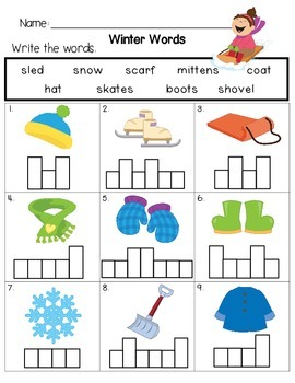 January Winter Fun Worksheets