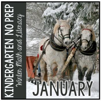 January Winter Kindergarten Math and Literacy NO PREP Comm