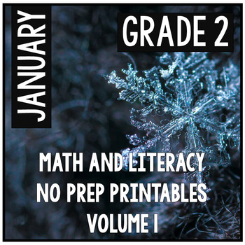 January Winter Second Grade Math and Literacy NO PREP Comm
