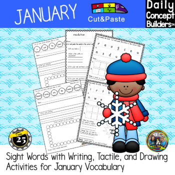January Word of the Day Cut and Paste Activities