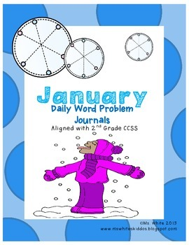 January Word Problem Math Journals {2nd Grade Common Core
