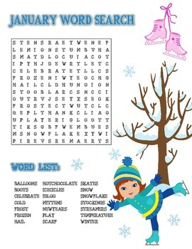 Word Search January (Winter)
