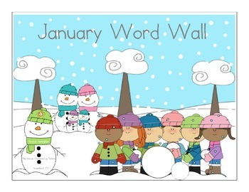 January Word Wall Words