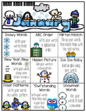 January Word Work Choice Board
