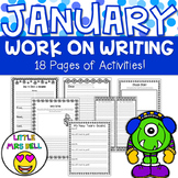 January Work on Writing Pack