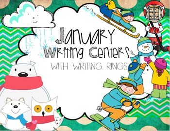 January Writing Centers for Kindergarten