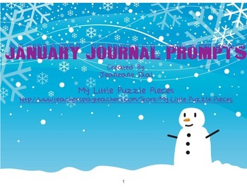 January Writing Prompts for Primary Grades & Special Education