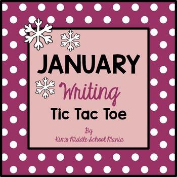 January Writing Tic Tac Toe Choice Board