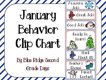 January or Winter Behavior Clip Chart