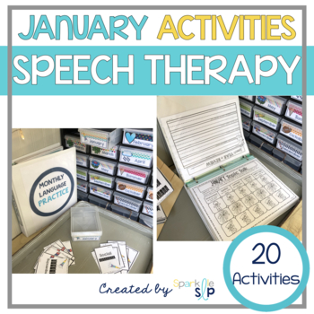 January Montly Themed Therapy:  Ring in With Speech and Language