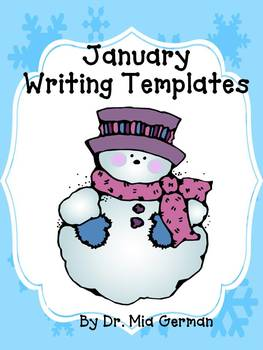 January & Winter Writing Templates (a writing resource for