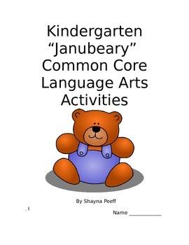 Bear Theme Langauge Arts Packet Kindergarten