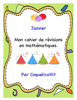 Janvier : cahier de révisions en math