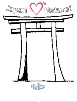 Japan Haiku Writing - Torii Gate Drawing - Japan Hearts Nature