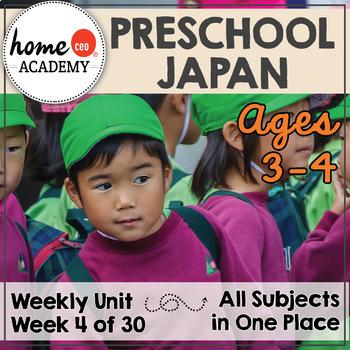 Japan - Week 4 Age 4 Preschool Homeschool Curriculum by Home CEO