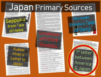 Japan Primary Source - 1st Letter between America and Japa