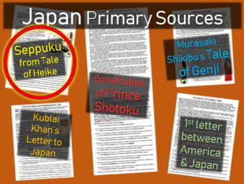 Japan Primary Source - Seppuku Primary Source from Tales o
